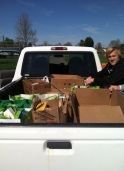 Truckload of food headed to the Nazareth Food Bank following our Kicking4Hunger Clinic
